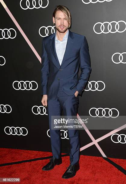 Actor Chord Overstreet attends Golden Globes Weekend Audi Celebration at Cecconi's on January 9 2014 in Beverly Hills California
