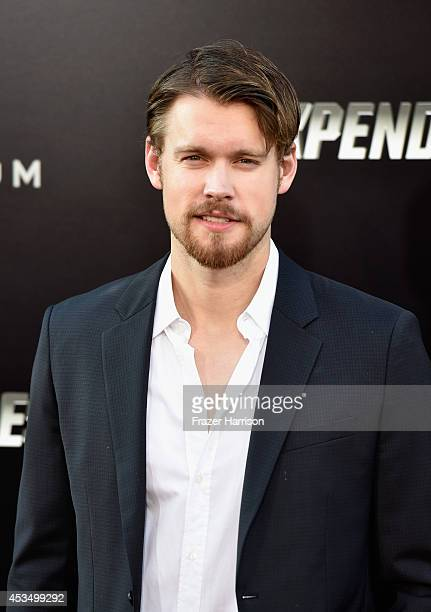 Actor Chord Overstreet attends Lionsgate Films' 'The Expendables 3' premiere at TCL Chinese Theatre on August 11 2014 in Hollywood California