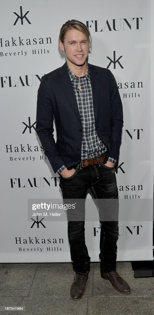 Actor <a gi-track='captionPersonalityLinkClicked' href=/galleries/search?phrase=Chord+Overstreet&family=editorial&specificpeople=7126148 ng-click='$event.stopPropagation()'>Chord Overstreet</a> attends the Flaunt Magazine En Garde! Issue launch party with Selena Gomez and Amanda De Cadenet at Hakkasan Restaurant Beverly Hills on November 7, 2013 in Beverly Hills, California.
