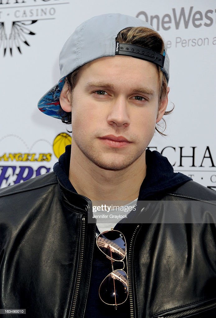 Actor <a gi-track='captionPersonalityLinkClicked' href=/galleries/search?phrase=Chord+Overstreet&family=editorial&specificpeople=7126148 ng-click='$event.stopPropagation()'>Chord Overstreet</a> attends the Lakers Casino Night held at Club Nokia on March 10, 2013 in Los Angeles, California.