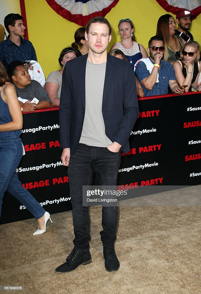 Actor Chord Overstreet attends the premiere of Sony's 'Sausage Party' at Regency Village Theatre on August 9 2016 in Westwood California