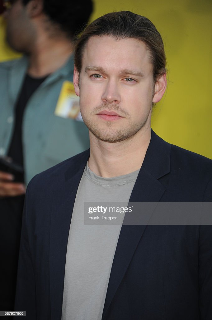 Actor Chord Overstreet attends the premiere of Sony's 'Sausage Party' held at the Regency Village Theater on August 9 2016 in Westwood California