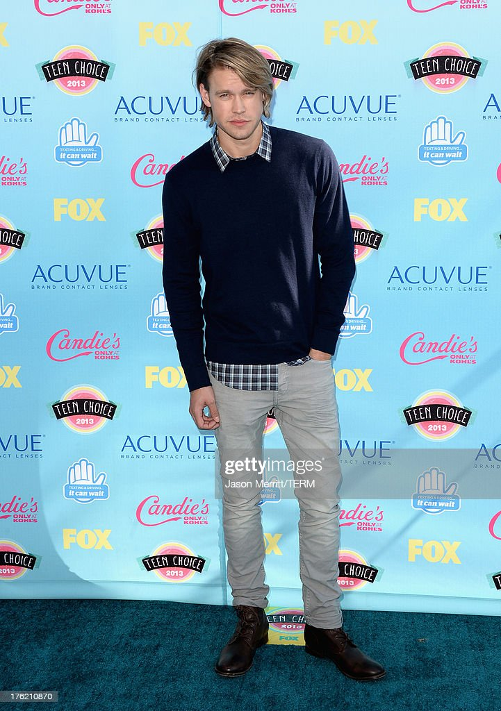 Actor <a gi-track='captionPersonalityLinkClicked' href=/galleries/search?phrase=Chord+Overstreet&family=editorial&specificpeople=7126148 ng-click='$event.stopPropagation()'>Chord Overstreet</a> attends the Teen Choice Awards 2013 at Gibson Amphitheatre on August 11, 2013 in Universal City, California.