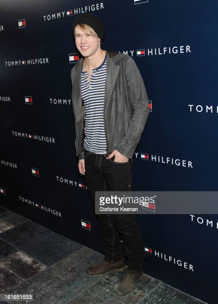 Actor Chord Overstreet attends Tommy Hilfiger New West Coast Flagship Opening After Party at a Private Club on February 13 2013 in West Hollywood...