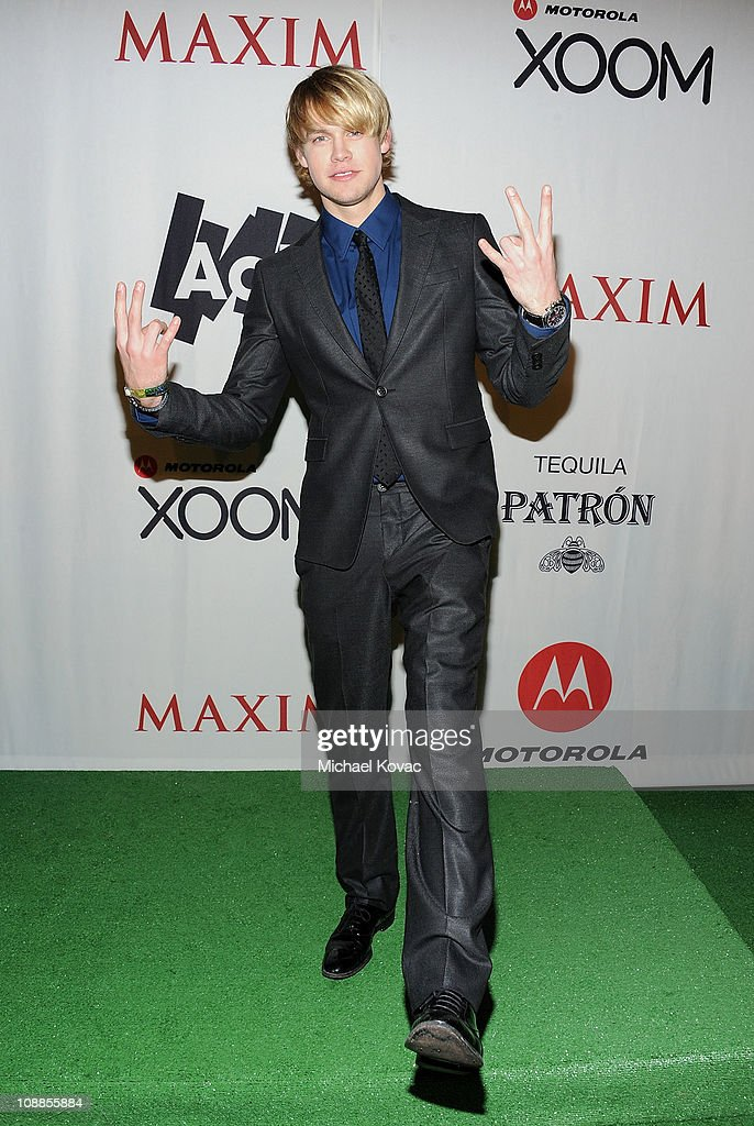 Actor <a gi-track='captionPersonalityLinkClicked' href=/galleries/search?phrase=Chord+Overstreet&family=editorial&specificpeople=7126148 ng-click='$event.stopPropagation()'>Chord Overstreet</a> poses with AOL at the Maxim Party Powered by Motorola Xoom at Centennial Hall at Fair Park on February 5, 2011 in Dallas, Texas.