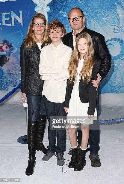 Actor Chris Bauer and his family attend the Premiere of Walt Disney Animation Studios' 'Frozen' at the El Capitan Theatre on November 19 2013 in...
