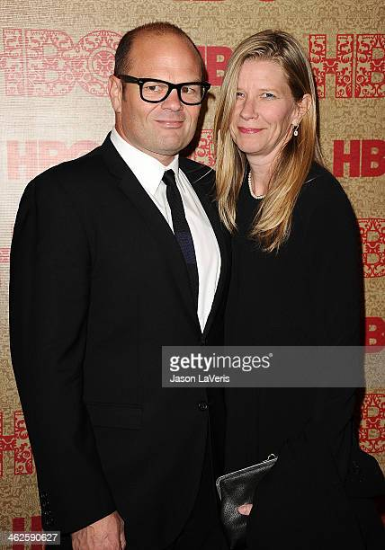 Actor Chris Bauer and wife Laura Cunningham Bauer attend HBO's Golden Globe Awards after party at Circa 55 Restaurant on January 12 2014 in Los...