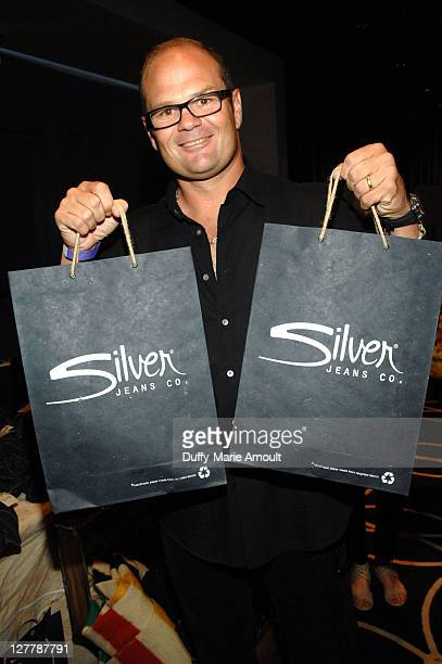 Actor Chris Bauer poses with Silver Jeans Co during Kari Feinstein MTV Movie Awards Style Lounge at the W Hollywood on June 3 2011 in Hollywood...