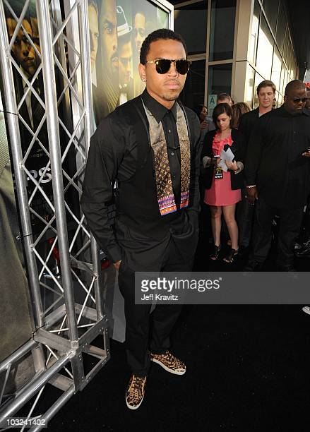 Actor Chris Brown arrives at the 'Takers' Los Angeles Premiere held at ArcLight Cinemas Cinerama Dome on August 4 2010 in Hollywood California