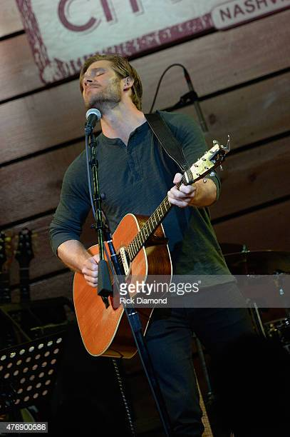 Actor Chris Carmack performs on stage at The Concert For Love And Acceptance at City Winery Nashville on June 12 2015 in Nashville Tennessee