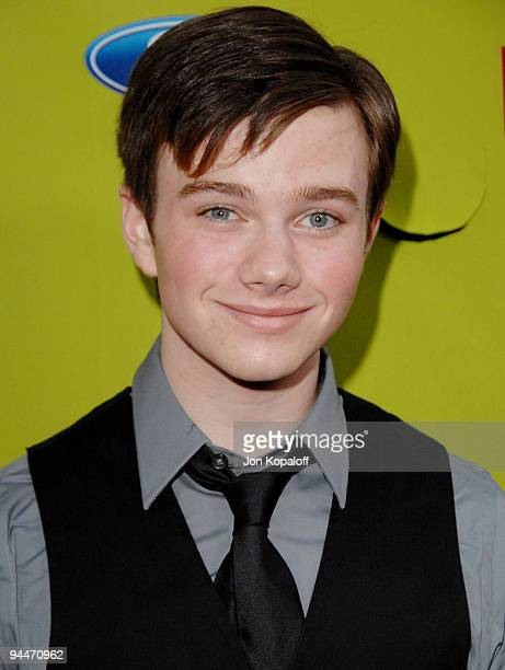 Actor Chris Colfer arrives at Fox Fall EcoCasino Party at BOA Steakhouse on September 14 2009 in West Hollywood California