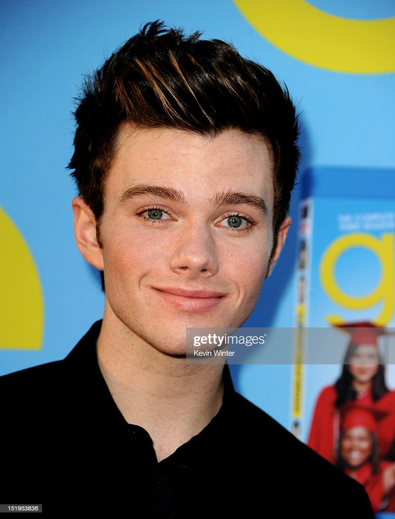 Actor <a gi-track='captionPersonalityLinkClicked' href=/galleries/search?phrase=Chris+Colfer&family=editorial&specificpeople=5662110 ng-click='$event.stopPropagation()'>Chris Colfer</a> arrives at the premiere of Fox Television's 'Glee' at Paramount Studios on September 12, 2012 in Los Angeles, California.