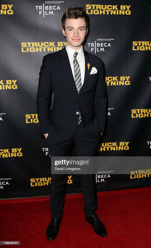 Actor Chris Colfer attends a screening of Tribeca Film's 'Struck By Lightning' at Mann Chinese 6 on January 6, 2013 in Los Angeles, California.