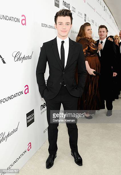 Actor Chris Colfer attends Chopard at 21st Annual Elton John AIDS Foundation Academy Awards Viewing Party at West Hollywood Park on February 24 2013...