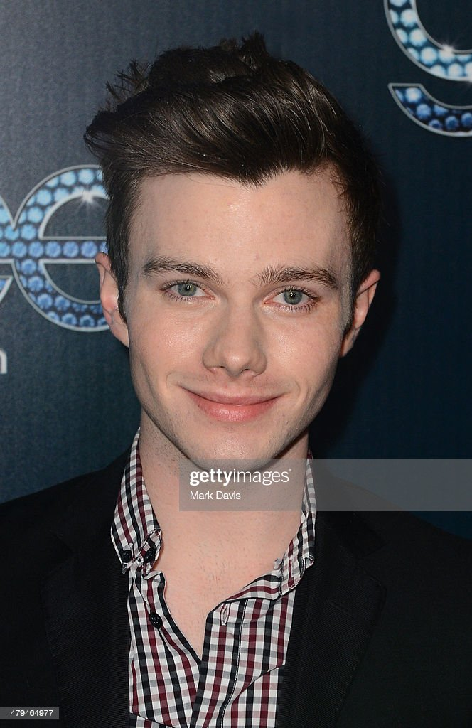 Actor <a gi-track='captionPersonalityLinkClicked' href=/galleries/search?phrase=Chris+Colfer&family=editorial&specificpeople=5662110 ng-click='$event.stopPropagation()'>Chris Colfer</a> attends Fox's 'GLEE' 100th Episode Celebration held at Chateau Marmont on March 18, 2014 in Los Angeles, California.