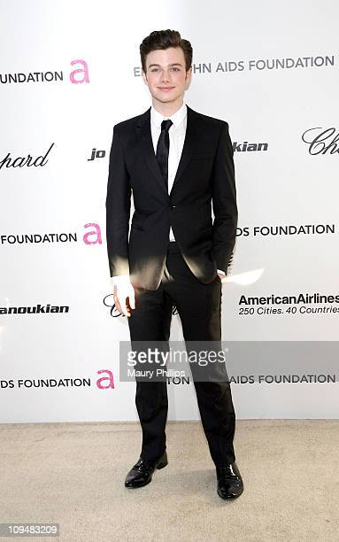 Actor Chris Colfer attends the 19th Annual Elton John AIDS Foundation's Oscar viewing party held at the Pacific Design Center on February 27 2011 in...