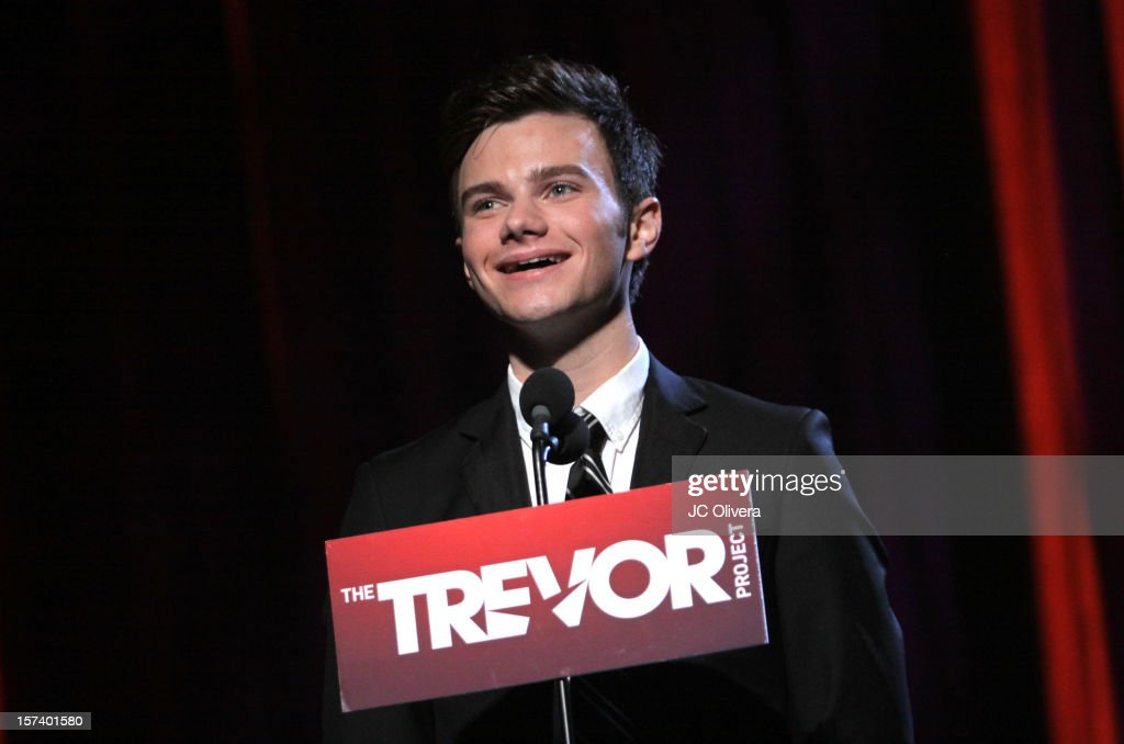 Actor <a gi-track='captionPersonalityLinkClicked' href=/galleries/search?phrase=Chris+Colfer&family=editorial&specificpeople=5662110 ng-click='$event.stopPropagation()'>Chris Colfer</a> onstage at 'Trevor Live' honoring Katy Perry and Audi of America for The Trevor Project held at The Hollywood Palladium on December 2, 2012 in Los Angeles, California.
