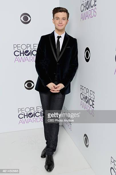 Actor Chris Colfer poses in the CBS/People's Choice Awards Photo Booth during The 40th Annual People's Choice Awards at Nokia Theatre LA Live on...