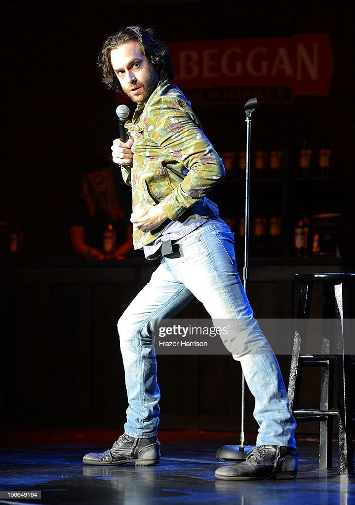 Actor Chris D'Elia speaks onstage at Variety's 3rd annual Power of Comedy event presented by Bing benefiting the Noreen Fraser Foundation held at...