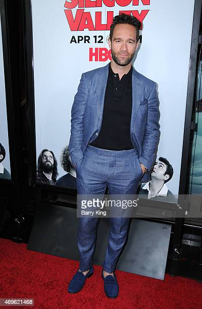 Actor Chris Diamantopoulos attends the HBO 'Silicon Valley' season 2 premiere at the El Capitan Theatre on April 2 2015 in Hollywood California