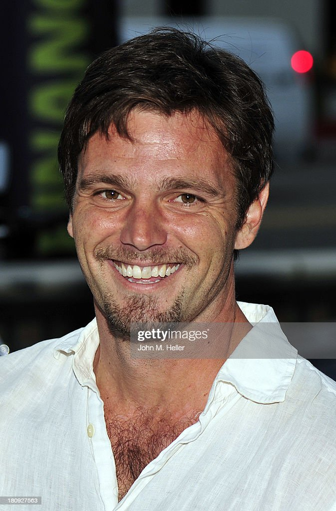 Actor Chris Engen attends the premiere of 'Easy Rider The Ride Back' Ride-In at Bartels' Harley-Davidson on September 17, 2013 in Marina del Rey, California.