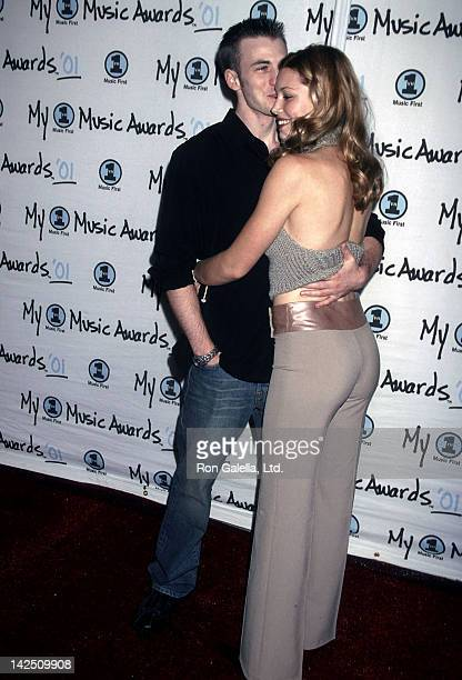 Actor Chris Evans and actress Jessica Biel attend the Second Annual My VH1 Music Awards on December 2 2001 at the Shrine Auditorium in Los Angeles...