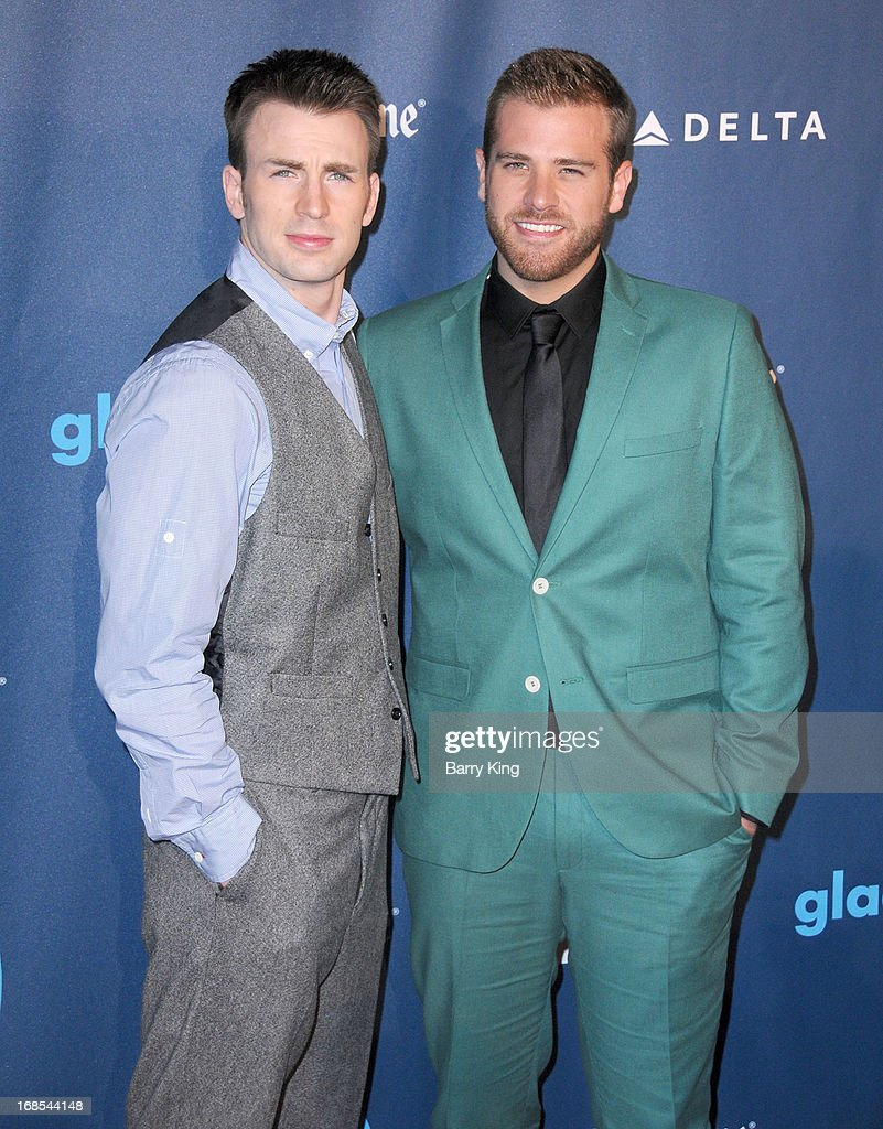 Actor Chris Evans and brother Scott Evans arrive at the 24th Annual GLAAD Media Awards at JW Marriott Los Angeles at LA LIVE on April 20 2013 in Los...