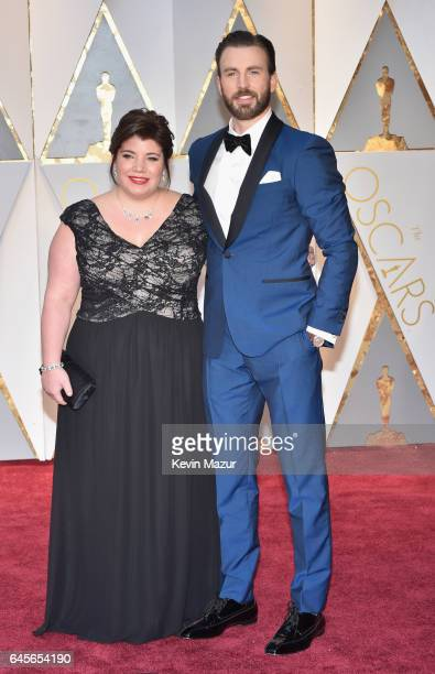 Actor Chris Evans and Shanna Evans attend the 89th Annual Academy Awards at Hollywood Highland Center on February 26 2017 in Hollywood California