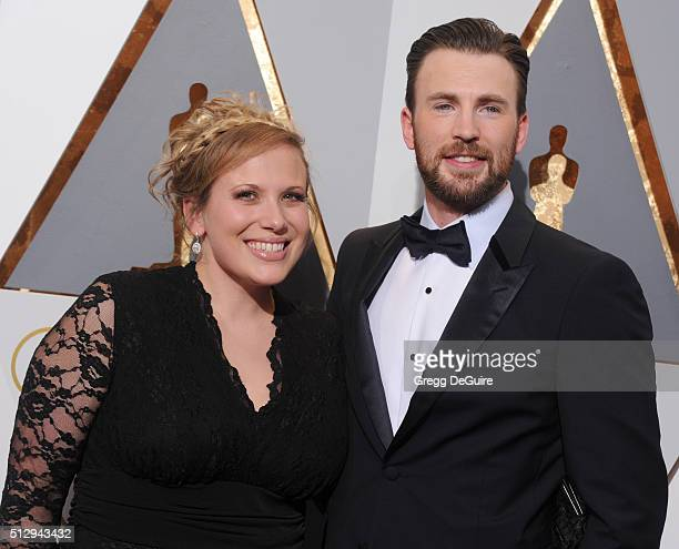 Actor Chris Evans and sister Carly Evans arrive at the 88th Annual Academy Awards at Hollywood Highland Center on February 28 2016 in Hollywood...