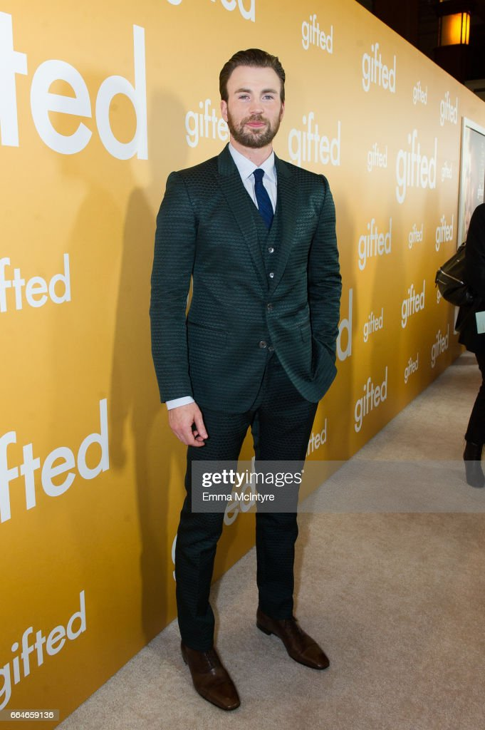 Actor Chris Evans arrives at the premiere of Fox Searchlight Pictures' 'Gifted' at Pacific Theaters at the Grove on April 4, 2017 in Los Angeles, California.