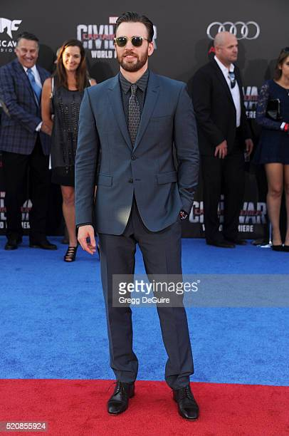 Actor Chris Evans arrives at the premiere of Marvel's 'Captain America Civil War' on April 12 2016 in Hollywood California