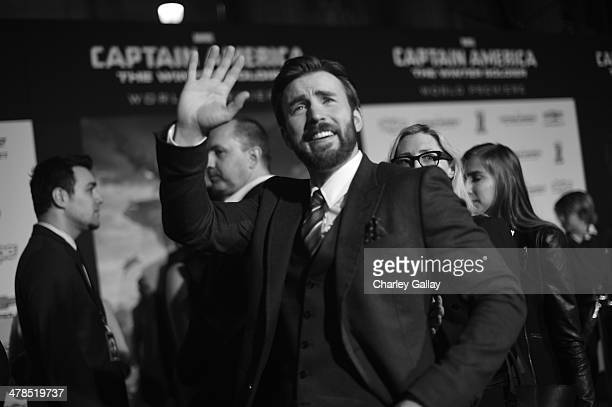 Actor Chris Evans attends Marvel's 'Captain America The Winter Soldier' premiere at the El Capitan Theatre on March 13 2014 in Hollywood California