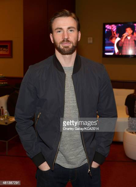 Actor Chris Evans attends Nickelodeon's 27th Annual Kids' Choice Awards held at USC Galen Center on March 29 2014 in Los Angeles California
