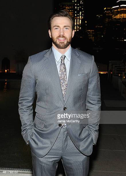 Actor Chris Evans attends The Cinema Society Gucci Guilty screening of Marvel's 'Captain America The Winter Soldier' after party at The Jimmy at the...