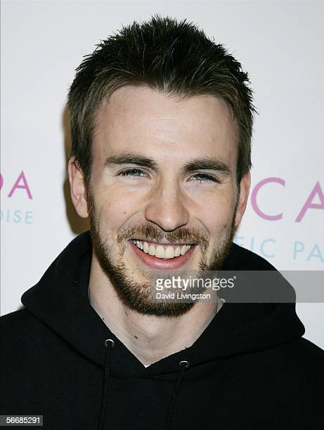 Actor Chris Evans attends the launch party for Escada's newest scent 'Pacific Paradise' at the Lobby on January 26 2006 in West Hollywood California