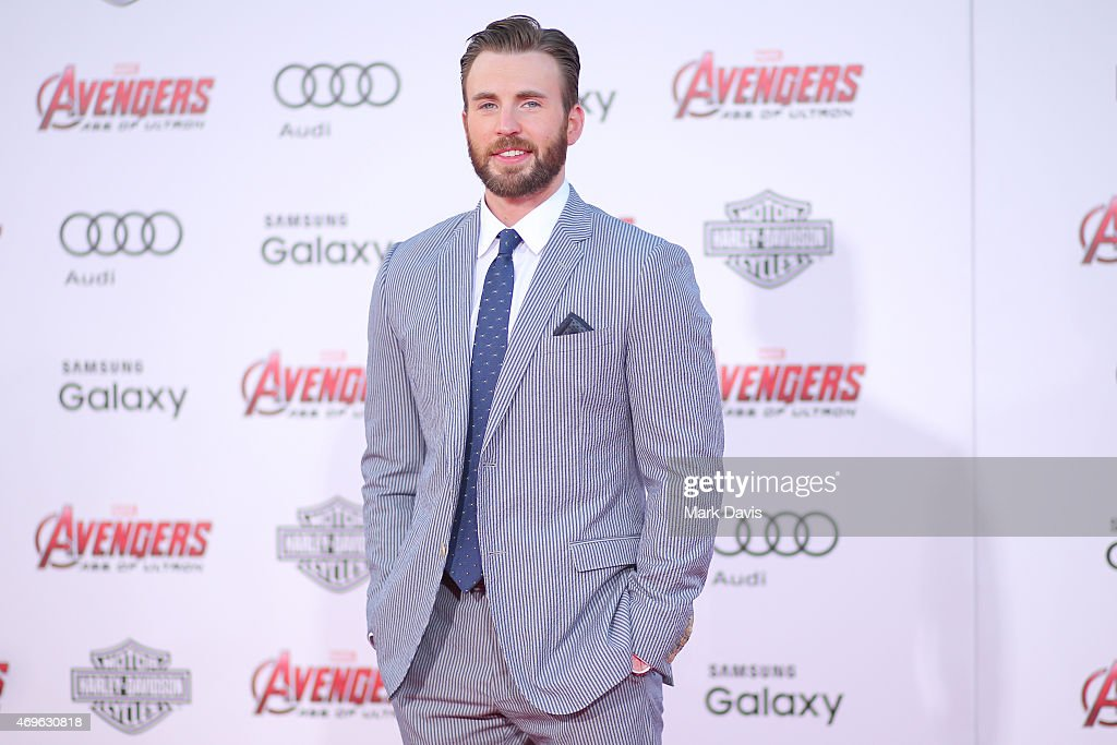 Actor <a gi-track='captionPersonalityLinkClicked' href=/galleries/search?phrase=Chris+Evans+-+Actor&family=editorial&specificpeople=6873149 ng-click='$event.stopPropagation()'>Chris Evans</a> attends the premiere of Marvel's 'Avengers: Age Of Ultron' at Dolby Theatre on April 13, 2015 in Hollywood, California.