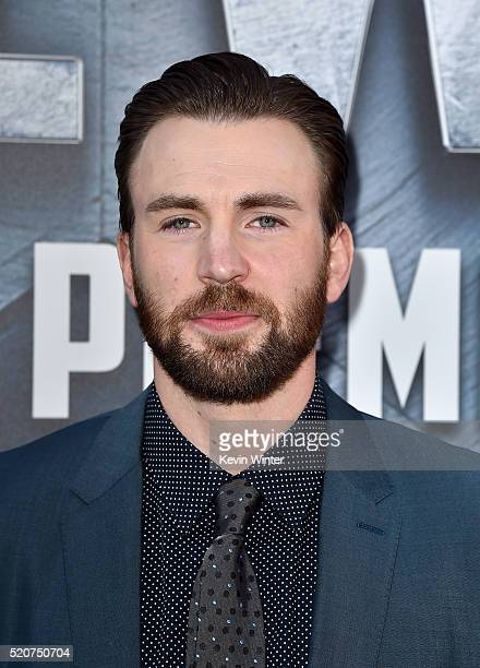 Actor Chris Evans attends the premiere of Marvel's 'Captain America Civil War' at Dolby Theatre on April 12 2016 in Los Angeles California
