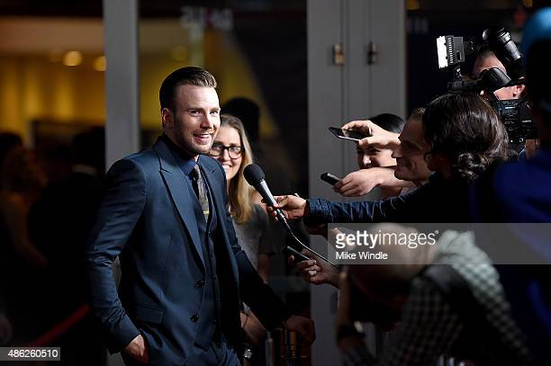 Actor Chris Evans attends the premiere of Radius and G4 Productions' 'Before We Go' at ArcLight Cinemas on September 2 2015 in Hollywood California