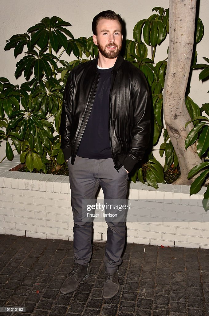 Actor <a gi-track='captionPersonalityLinkClicked' href=/galleries/search?phrase=Chris+Evans+-+Actor&family=editorial&specificpeople=6873149 ng-click='$event.stopPropagation()'>Chris Evans</a> attends the W Magazine celebration of the 'Best Performances' Portfolio and The Golden Globes with Cadillac and Dom Perignon at Chateau Marmont on January 8, 2015 in Los Angeles, California.