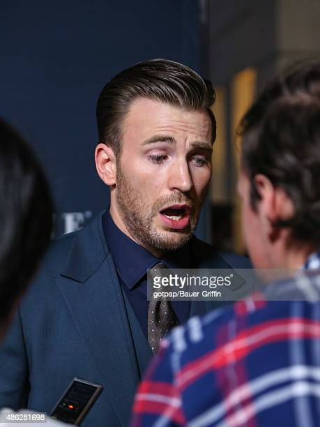 Actor Chris Evans is seen attending the premiere of 'Before We Go' at ArcLight Cinemas on September 02 2015 in Los Angeles California