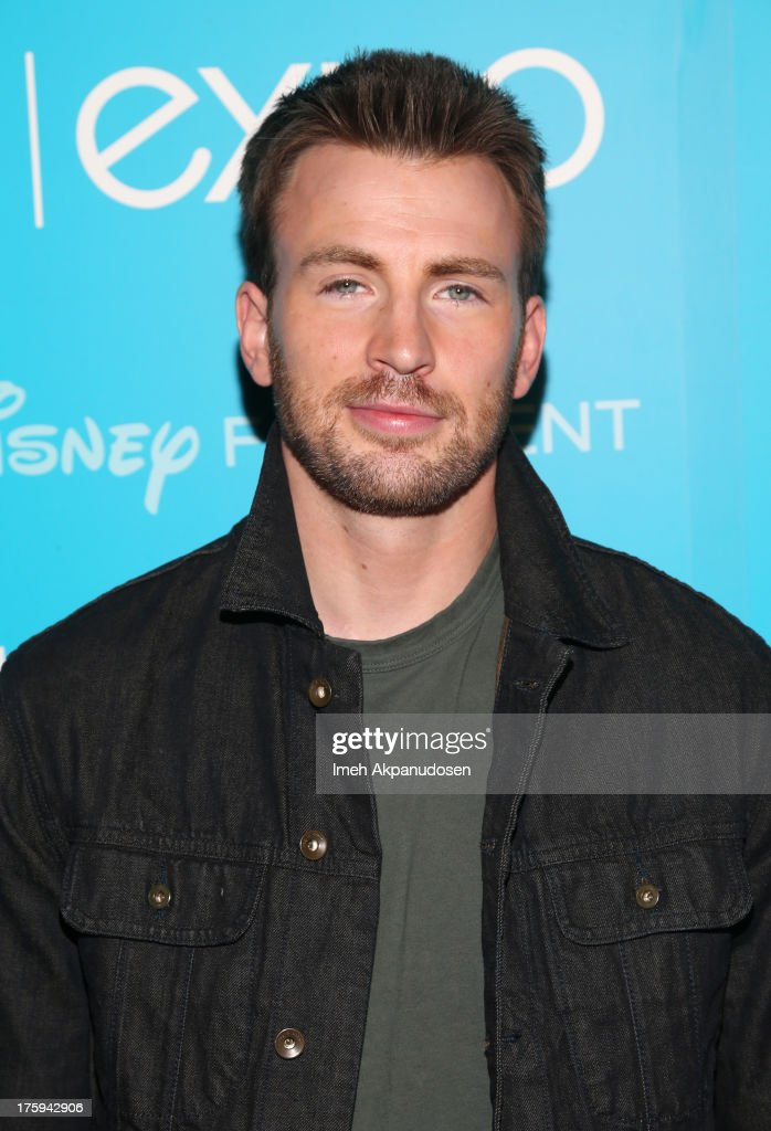 Actor <a gi-track='captionPersonalityLinkClicked' href=/galleries/search?phrase=Chris+Evans+-+Actor&family=editorial&specificpeople=6873149 ng-click='$event.stopPropagation()'>Chris Evans</a> of 'Captain America: The Winter Soldier' attends 'Let the Adventures Begin: Live Action at The Walt Disney Studios' presentation at Disney's D23 Expo held at the Anaheim Convention Center on August 10, 2013 in Anaheim, California.