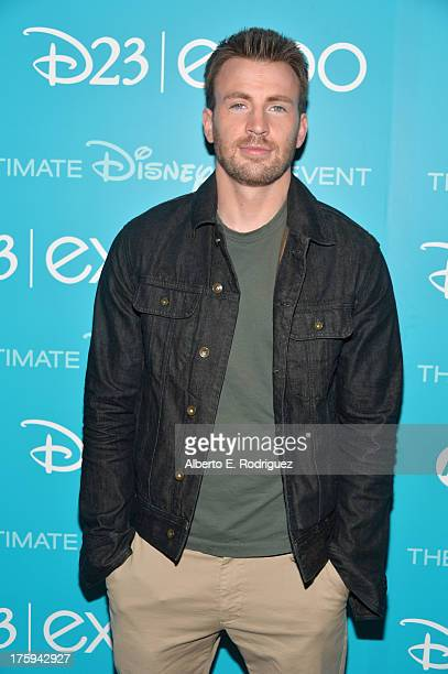 Actor Chris Evans of 'Captain American The Winter Soldier' attends 'Let the Adventures Begin Live Action at The Walt Disney Studios' presentation at...