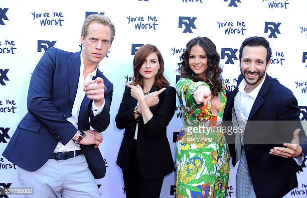 Actor Chris Geere actresses Aya Cash and Kether Donohue and actor Desmin Borges attend For Your Consideration event for FX's 'You're The Worst' at...