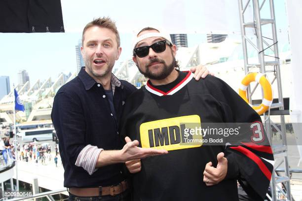 Actor Chris Hardwick and host Kevin Smith on the #IMDboat at San Diego ComicCon 2017 at The IMDb Yacht on July 22 2017 in San Diego California