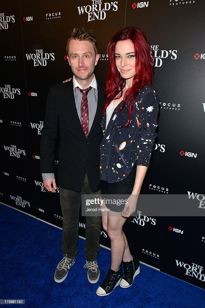 Actor Chris Hardwock (L) and actress Cloe Dykstra attend IGN And Focus Features Comic-Con 2013 Party Presented By The World's End at Float at Hard Rock Hotel San Diego on July 18, 2013 in San Diego, California.