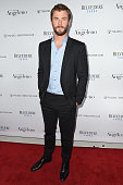 Actor Chris Hemsworth arrives at Angeleno's Issue Release Party at The Standard Hollywood on April 12 2016 in West Hollywood California