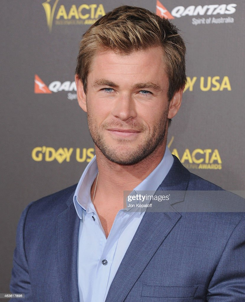 Actor <a gi-track='captionPersonalityLinkClicked' href=/galleries/search?phrase=Chris+Hemsworth&family=editorial&specificpeople=646776 ng-click='$event.stopPropagation()'>Chris Hemsworth</a> arrives at the 2015 G'Day USA Gala Featuring The AACTA International Awards Presented By Quantas at Hollywood Palladium on January 31, 2015 in Los Angeles, California.