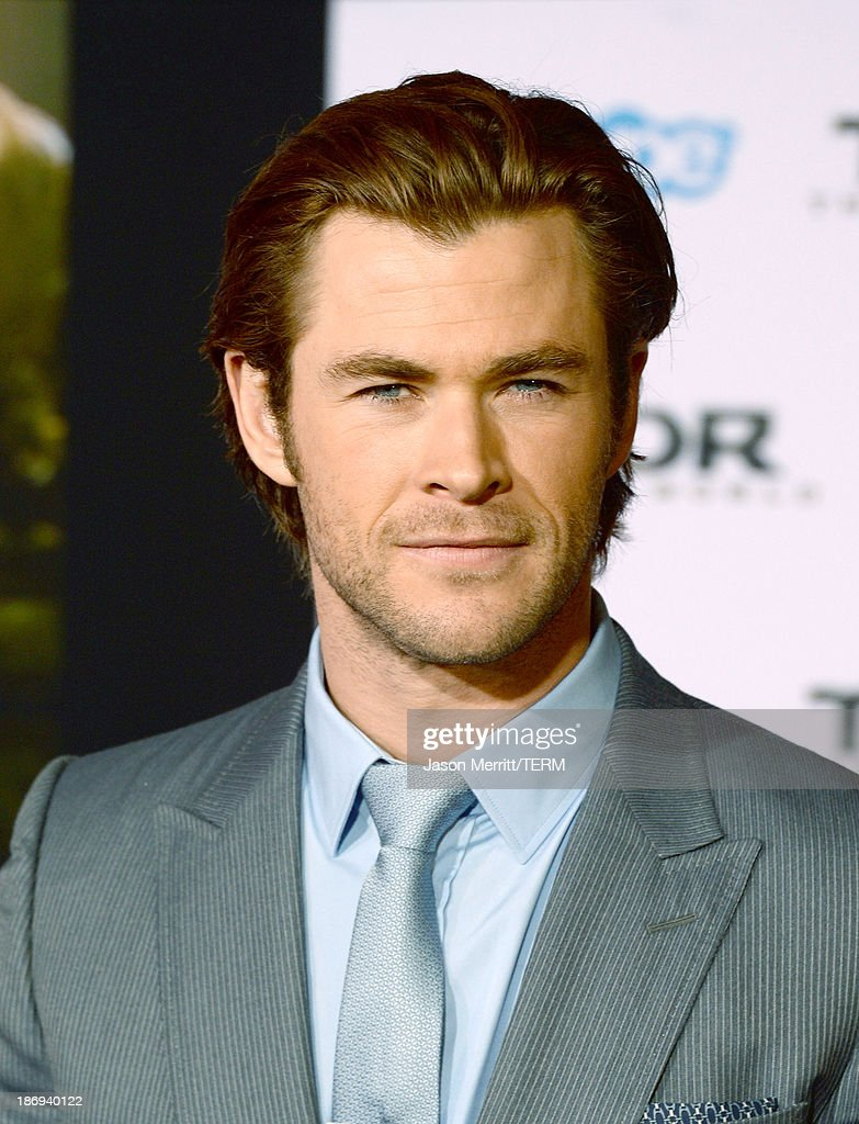 Actor Chris Hemsworth arrives at the premiere of Marvel's 'Thor: The Dark World' at the El Capitan Theatre on November 4, 2013 in Hollywood, California.