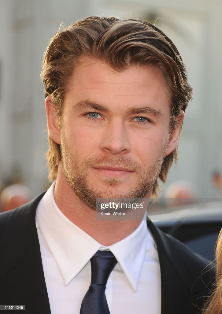 Actor <a gi-track='captionPersonalityLinkClicked' href=/galleries/search?phrase=Chris+Hemsworth&family=editorial&specificpeople=646776 ng-click='$event.stopPropagation()'>Chris Hemsworth</a> arrives at the premiere of Paramount Pictures' and Marvel's 'Thor' held at the El Capitan Theatre on May 2, 2011 in Los Angeles, California.