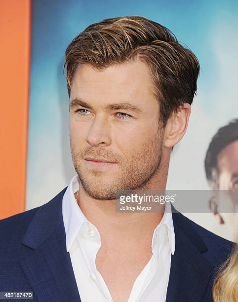 Actor Chris Hemsworth arrives at the Premiere Of Warner Bros 'Vacation' at Regency Village Theatre on July 27 2015 in Westwood California